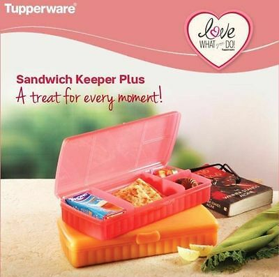 Brand New Tupperware Sandwich Keeper Plus Lunch Box Set Of 2