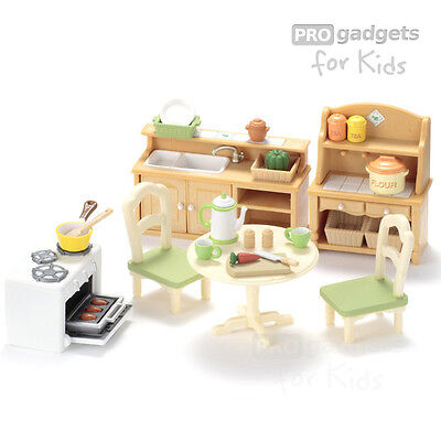 Genuine Sylvanian Families Country Kitchen Set for age 3+
