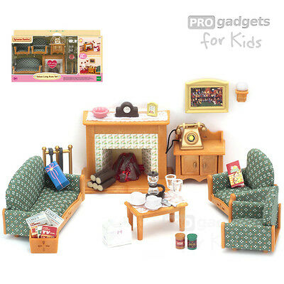 Genuine Sylvanian Families Deluxe Living Room Set for age 3+