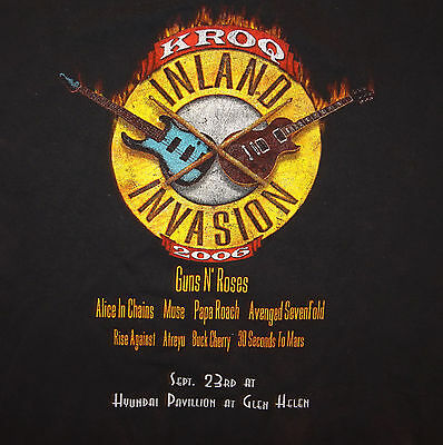 2006 KROQ Inland Invasion Concert T-shirt Guns N' Roses Alice in Chains Muse XL