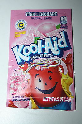 5 x US Kool-Aid Unsweetened Soft Drink Mix PINK LEMONADE Flavor