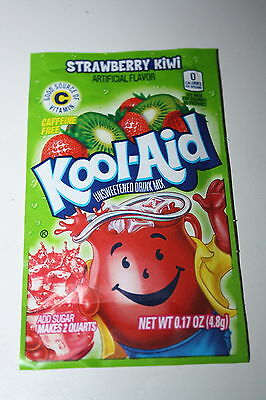 5 x US Kool-Aid Unsweetened Soft Drink Mix STRAWBERRY KIWI Flavor