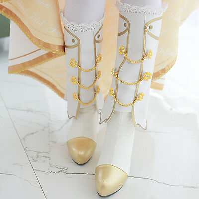 Lovelive / Love Live! School Idol Project White Wedding Dress Cosplay PU Boots