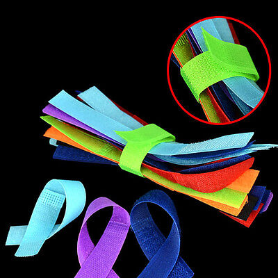 50/100pcs Strap Wrap Wire Line Organizer Cable Tie Rope Holder for Laptop PC