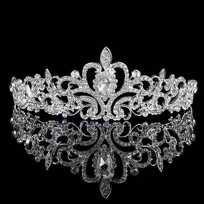 Princess Wedding Bridal Party Crystal Flower Hair Band Headband Tiara NEW