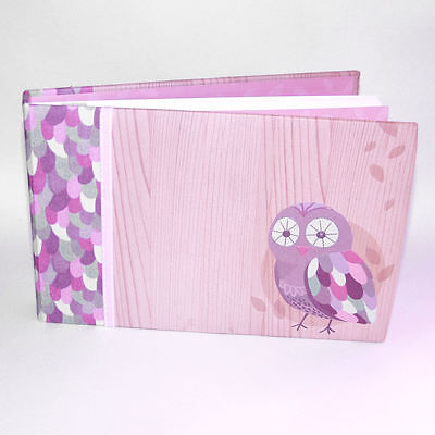 "Pepperpot Hoot Owl Design Baby Adhesive Photo Album Holds 30 6"" x 4"" Photographs"
