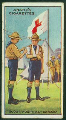 1923 Anstie's Scout Series, Tobacco card, No 49, Scout Hospital - Canada