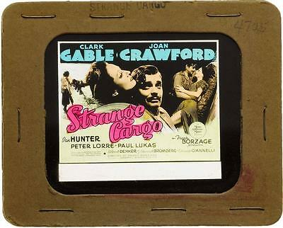 "1940 ""Strange Cargo"" Movie Glass Slide, Crawford, Gable, Lorre and Lukas"