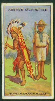 1923 Anstie's Scout Series, Tobacco card, No 45, Scout & Dyak - Malay