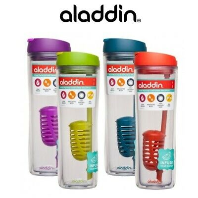 Aladdin Infuse Flip to slip Cold Tumbler 591ml Water Bottle BPA Free *Choose you