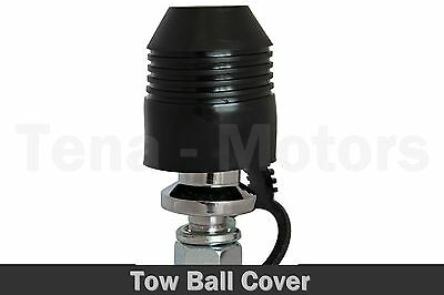 Black Tow Ball Towing Protect Towbar Towball Soft Silicone Cap Cover /7938