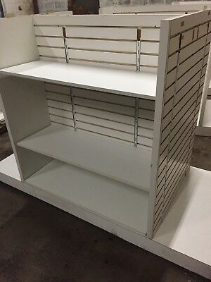 4-Way Slatwall Gondola Merchandise Display Retail Store White Different Sizes