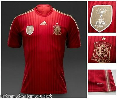 Spain adidas Home Football Shirt Espana FEF Jersey Adults Mens Top Tee S-XL NEW