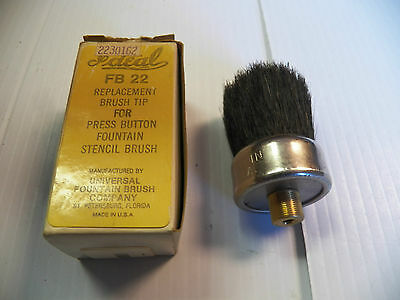 New Ideal Replacement Brush Tip Press Button Fountain Stencil Brush Fb 22 Fb22