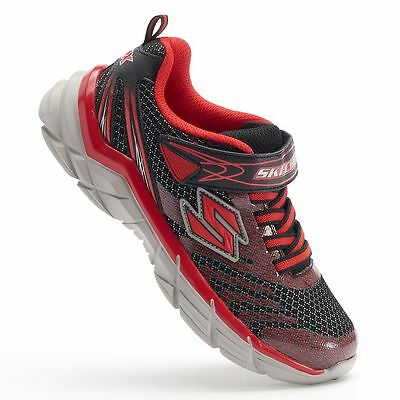 BOYS SKECHERS RIVE BLACK AND RED ATHLETIC SHOES-SEE LISTING FOR SIZES i10c a