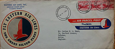 United States 1954 Cover With Eastern Airlines Nice Airmail + Baggage Labels