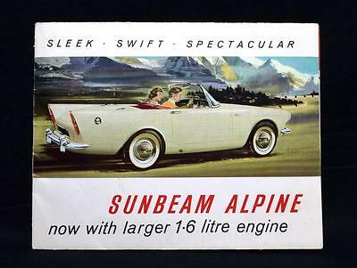 Rare Sunbeam Alpine 1.6 Car Brochure, Rootes Group, C.1964