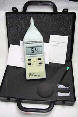 SPER Scientific Digital Sound Level Meter 840029 New 1500