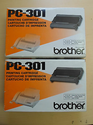 LOT OF 2 PC-301 BROTHER PRINTING CARTRIDGES FAX-750/770/775/775Si/870mc/885mc/+