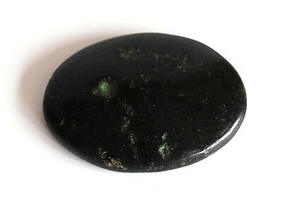 Reiki Energy Charged Natural Black Tourmaline Crystal Cabachone Palm Stone Gift