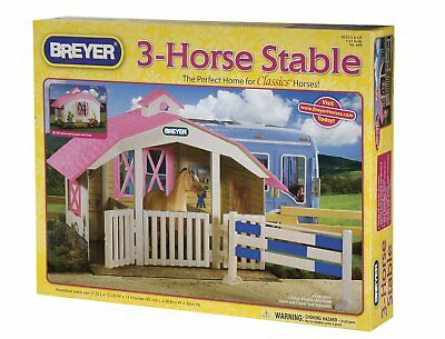 Breyer Classics Collection #688 3-Horse Stable (Horse and People sold seperatly