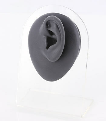 Silicone Left Ear Display - Black Body Bit Version 1