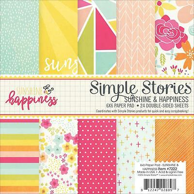 Scrapbooking Crafts 6X6 Paper Pad Simple Stories Sunshine Happiness Bright Dots