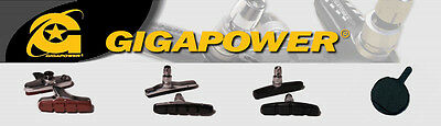 Shimano (105 Ultegra Dura Ace) & SRAM Compatible brake Pad inserts - Gigapower