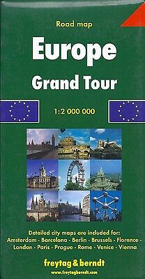 Map of Europe, Grand Tour, by Freytag & Berndt