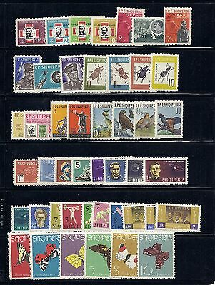 ALBANIA 1963 12 different sets  VF MH