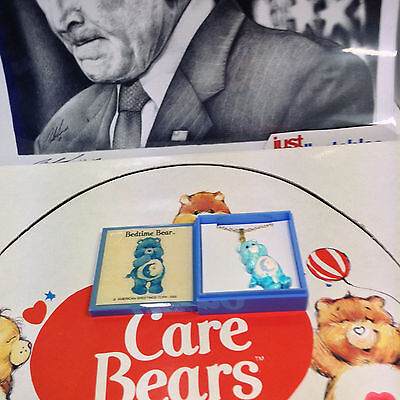 "Care Bears ""bedtime Bear"" Vintage Necklace American Greetings Corp 1985"