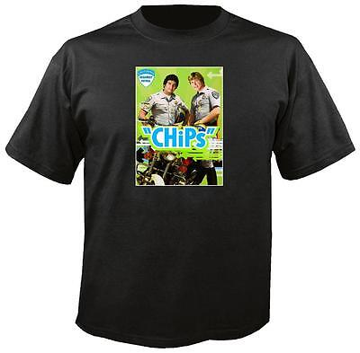 Tee Shirt New Adult Cotton Unisex classic 1970s/80s TV show CHIPS t shirt
