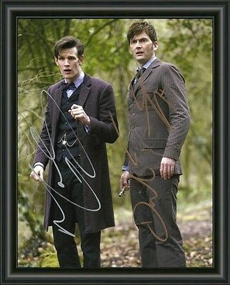 David Tennant & Matt-Smith - Dr Who A4 Signed Autographed Photo Poster Free Post