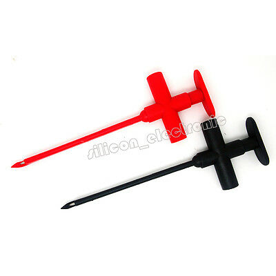 New Test Clip Set Insulation Piercing Red Black Banana