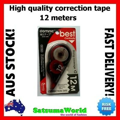 Correction Tape White Out 20m High Quality Roller Stationery Student Office new