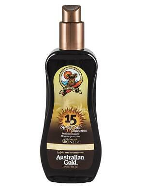 Australian Gold SPF 15 Spray Gel with Instant Bronzer 237ml