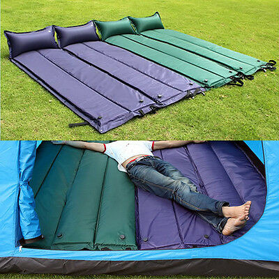 Automatic Inflatable Camping Mat Waterproof Sleeping Pad With Pillow Outdoor