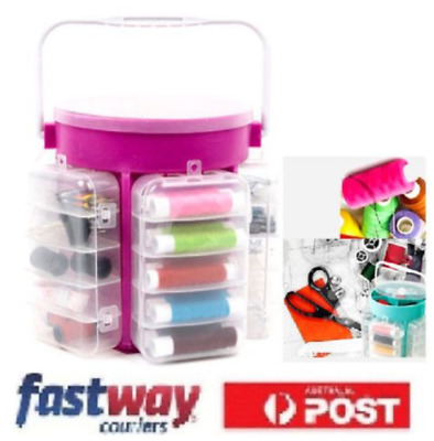 210 pcs Multi Function Sewing Kit Collection Custom Thread Needle Storage Caddy