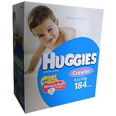 184Huggies Nappies Crawler 6-11kg BOYS Disposable Nappy