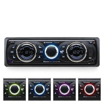 Auna Car Audio Stereo Bluetooth Music System Speaker Phone Lcd Usb Fm Sd Aux