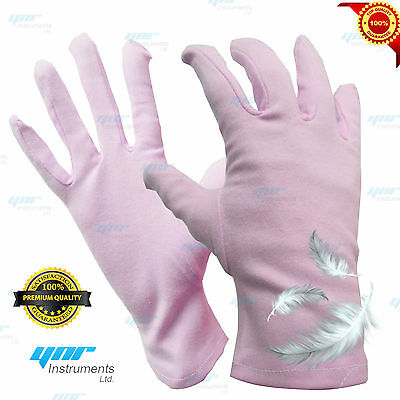 YNR THIN COTTON INNER NEW SOFT WHITE COTTON GLOVES FOR JEWELLERS SILVERWARE
