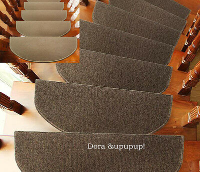 "High Quality 9""x25"" Sector Stair Treads Step Carpet Mats Non-slip Step Rugs *1"