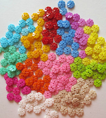 2 Hole Flower Resin Buttons/craft/sewing 12Mm/var Cols/var Qty