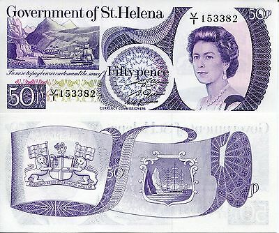 SAINT HELENA 50 Pence Banknote World Paper Money UNC Currency Note Bill p5 Queen
