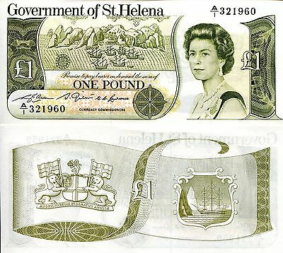 SAINT HELENA 1 Pound Banknote World Paper Money UNC Currency Pick p-9 Queen Bill