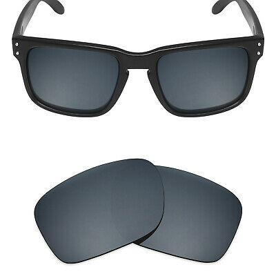 ac22d5a4e00 Mryok Polarized Replacement Lenses for-Oakley Holbrook Sunglasses Black IR.