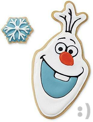 NEW Wilton Disney Frozen 2-Piece Olaf Cookie Cutter Set