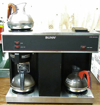 Bunn Industrial VPS 3 Burner Coffee Maker with 3 Coffee Pots AS-IS