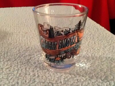 Great Smoky Mountains  Vintage Shot Glass