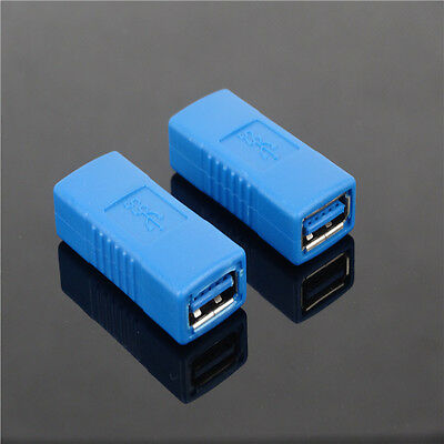 2xHigh Speed USB 3.0 Type A Female To Female Adapter Coupler Converter Connector